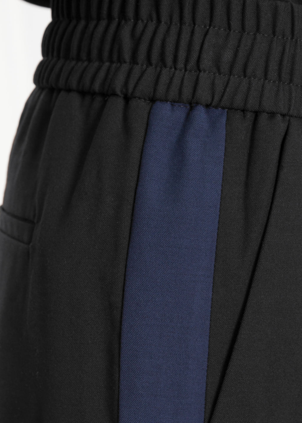 Detailed image of Stories side panel trousers in black