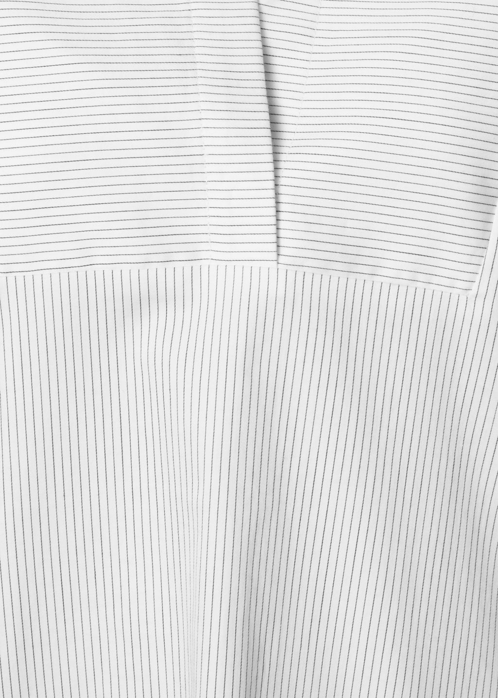 Detailed image of Stories scallop edge blouse in white