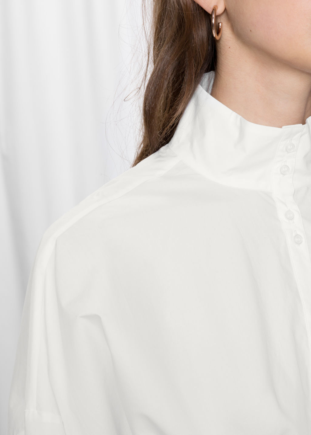 Detailed image of Stories cotton blouse in white