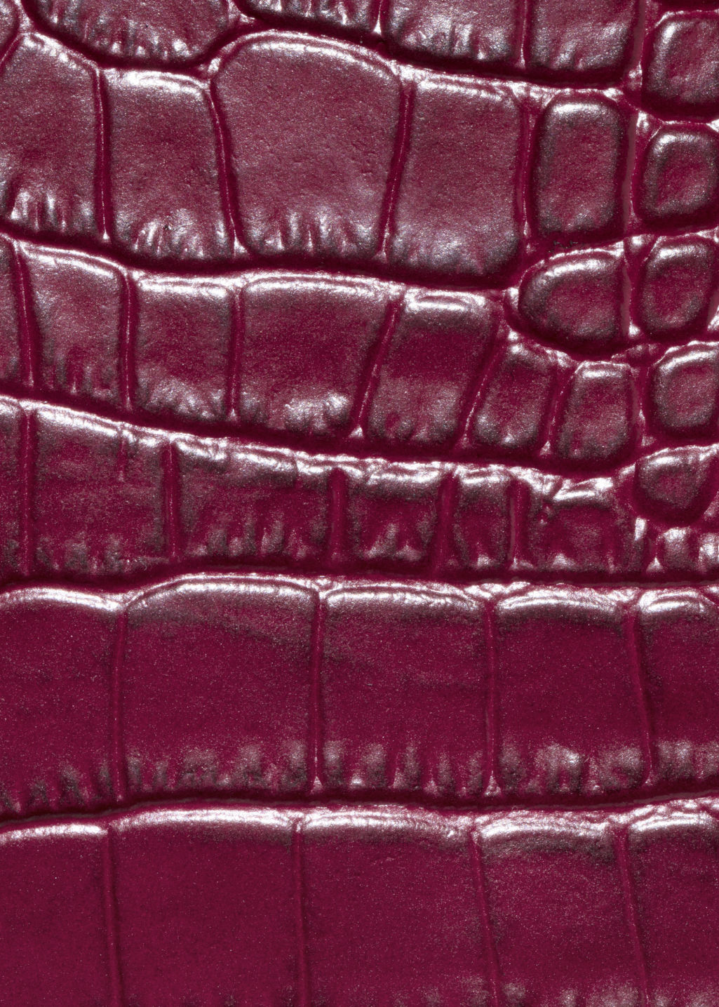 Detailed image of Stories croco leather shoulder bag in red