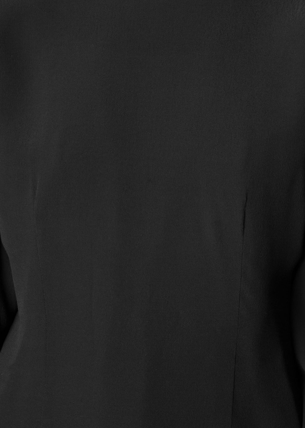 Detailed image of Stories oversized sleeve blouse in black