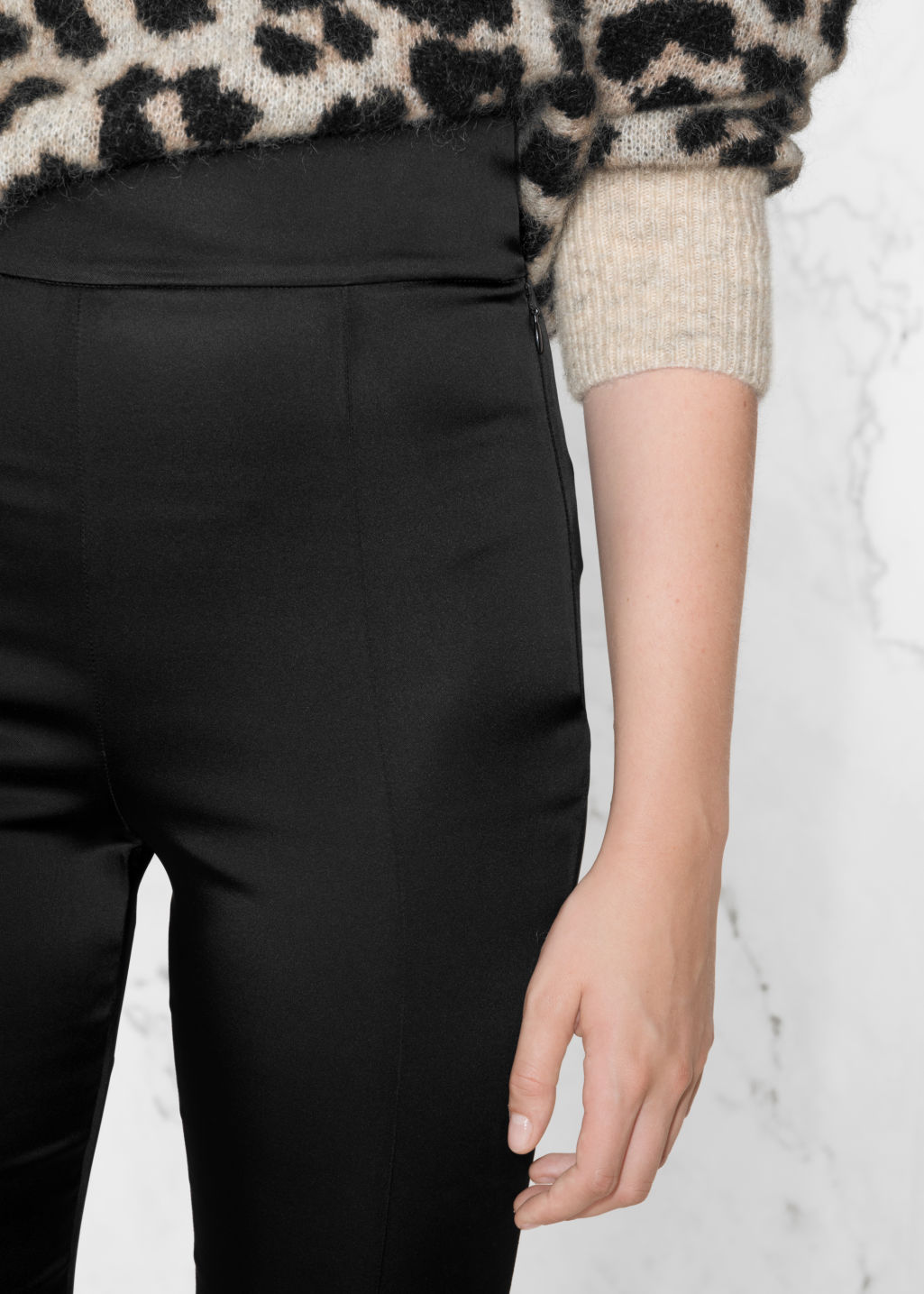 Detailed image of Stories high-rise trousers in black