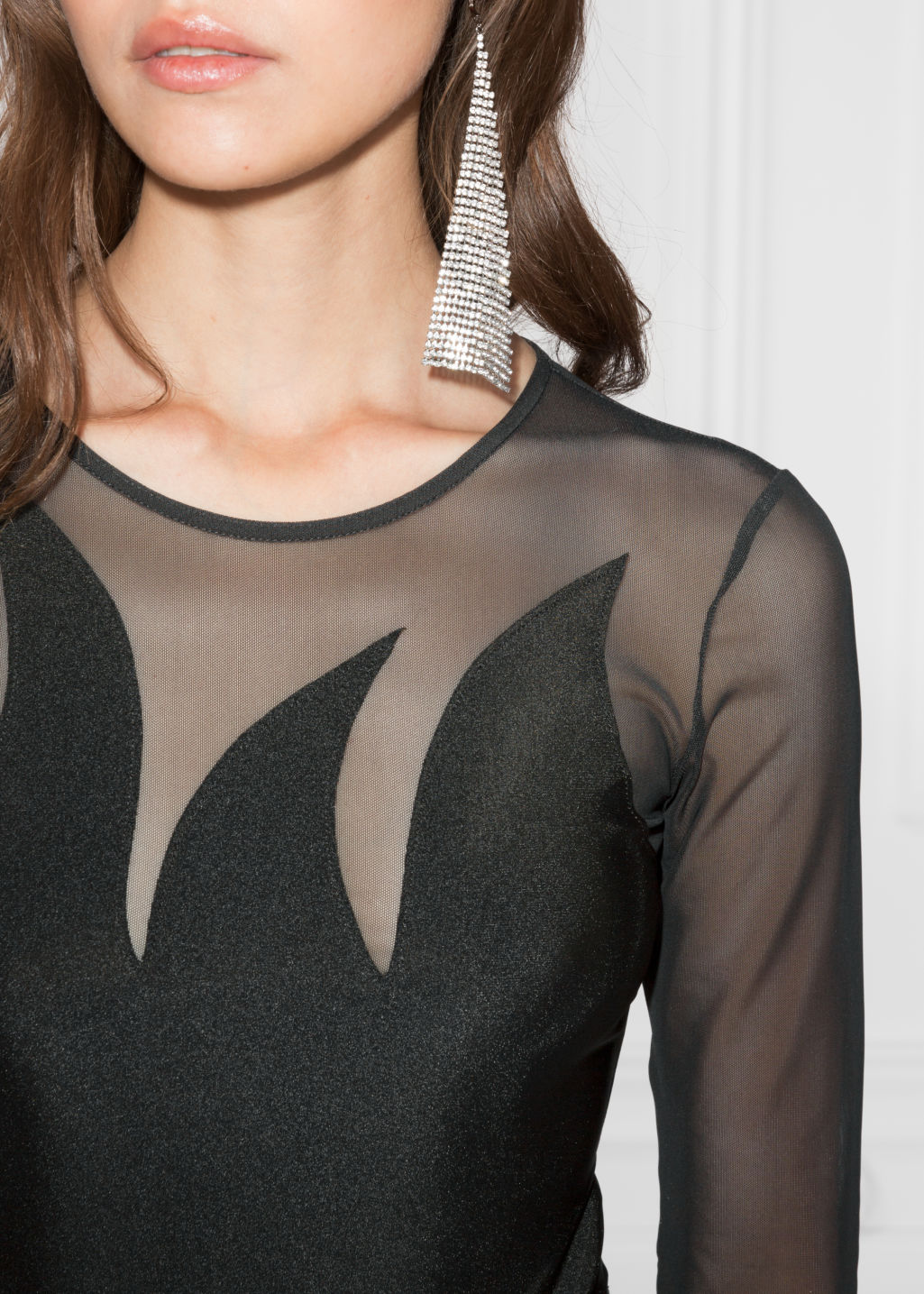 Detailed image of Stories mesh body in black