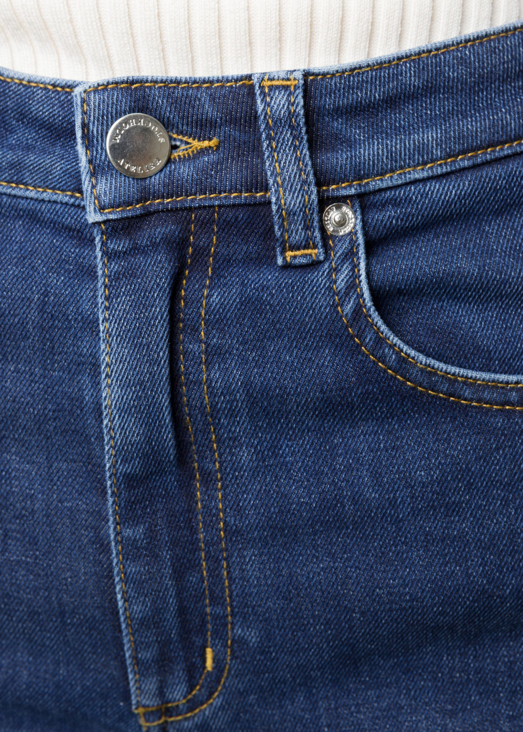 Detailed image of Stories flare denim jeans in blue