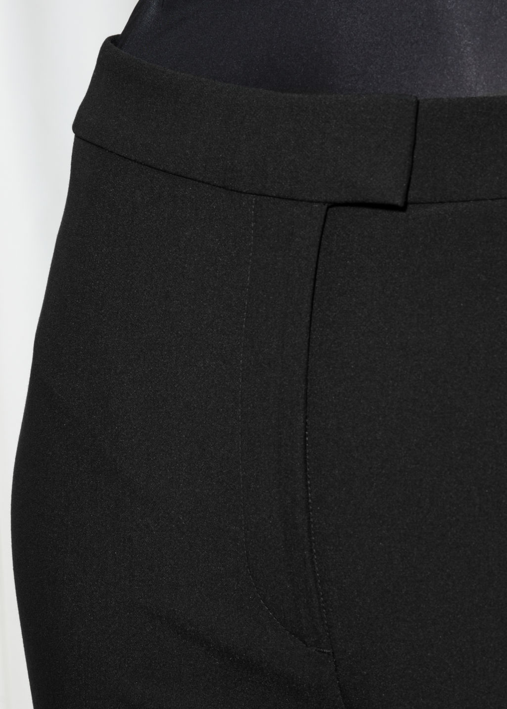 Detailed image of Stories high waist trousers in black