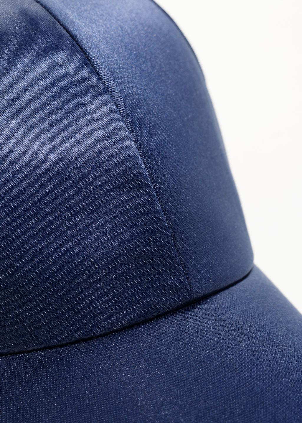 Detailed image of Stories satin cap  in blue