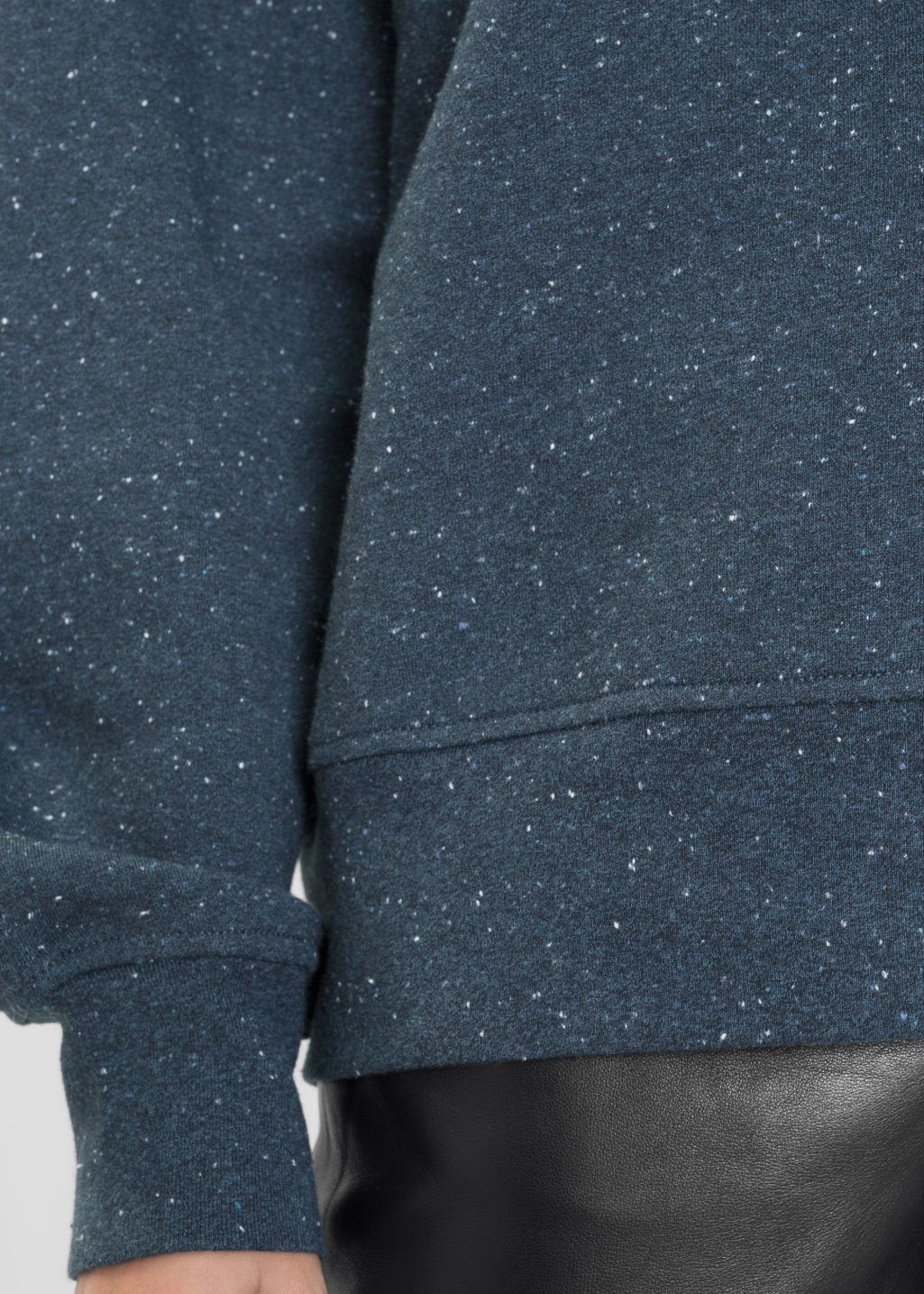 Detailed image of Stories speckled pullover in blue