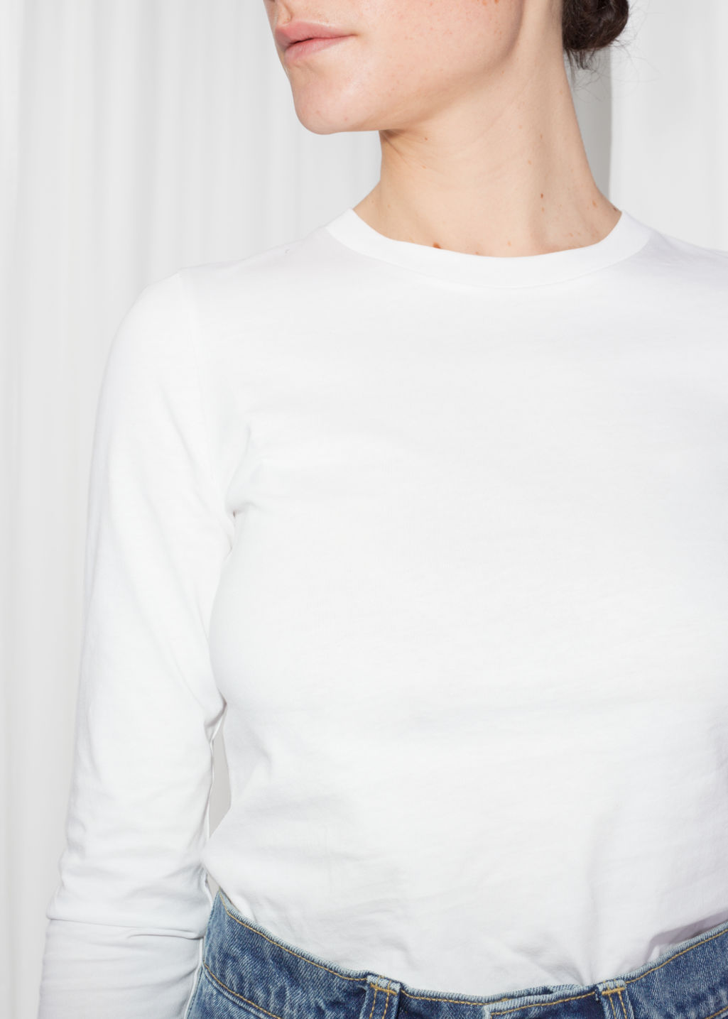 Detailed image of Stories long sleeve shirt in white