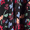 Fabric Swatch image of Stories sheer printed midi dress in black