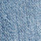 Fabric Swatch image of Stories high belted organic cotton jeans in blue