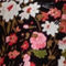 Fabric Swatch image of Stories floral puff sleeve midi wrap dress in pink